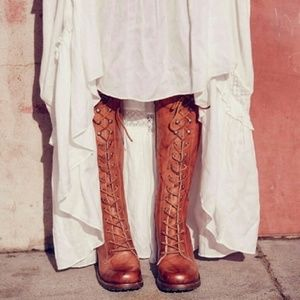 FRYE Campus Lug Lace Up Boho Boots Free People